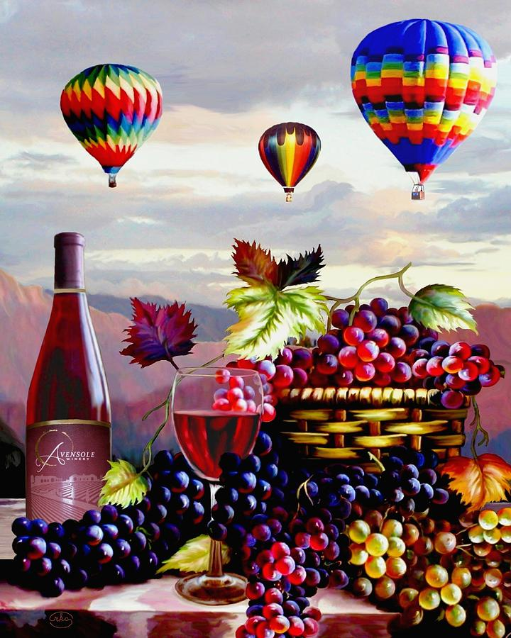 Balloon ride at dawn painting by ron chambers for Paint and wine albuquerque