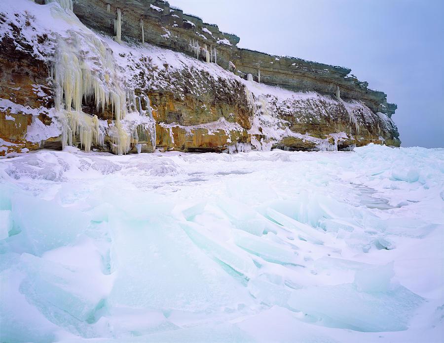 Winter Photograph - Baltic Klint by Romeo Koitmae