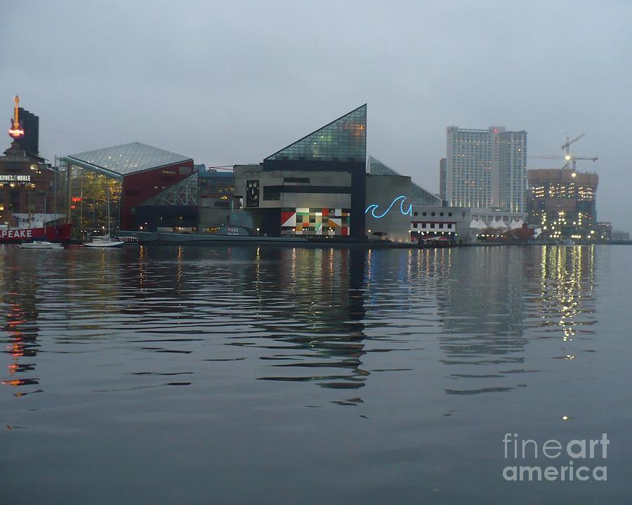 Baltimore Harbor Reflection Photograph