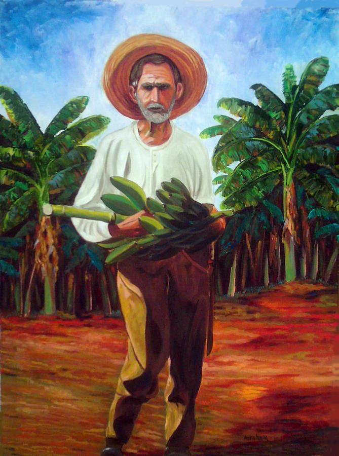 Banana Farmer Painting By Jose Manuel Abraham