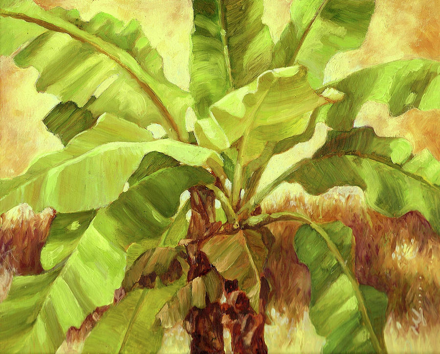 Foliage Painting - Bananas At Casa Cielo by Monica Linville