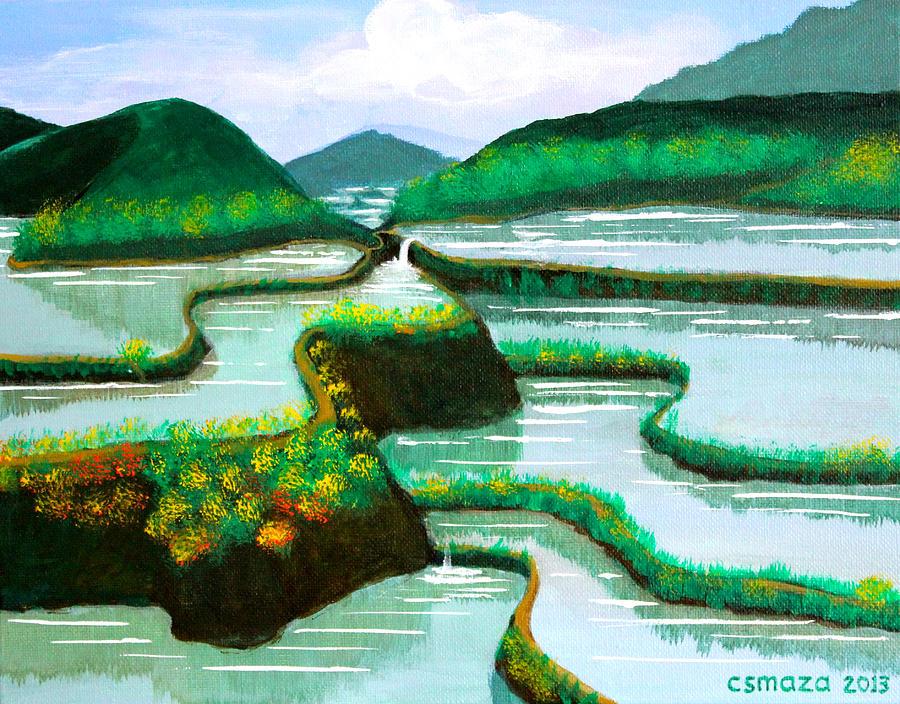 banaue painting by cyril maza