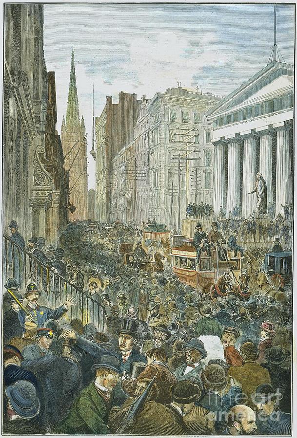 1884 Photograph - Bank Panic, 1884 by Granger