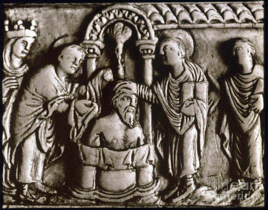 496 Painting - Baptism Of Clovis I, 496 A.d by Granger