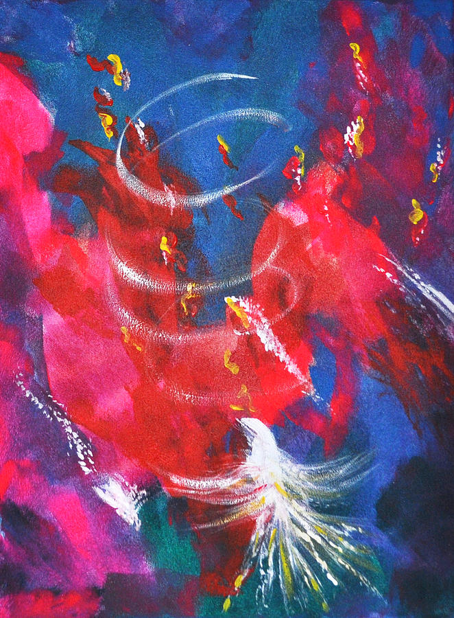 Prophetic Art Painting - Baptism Of Fire by Denise Warsalla