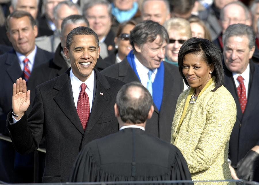History Photograph - Barack Obama Is Sworn In As The 44th by Everett