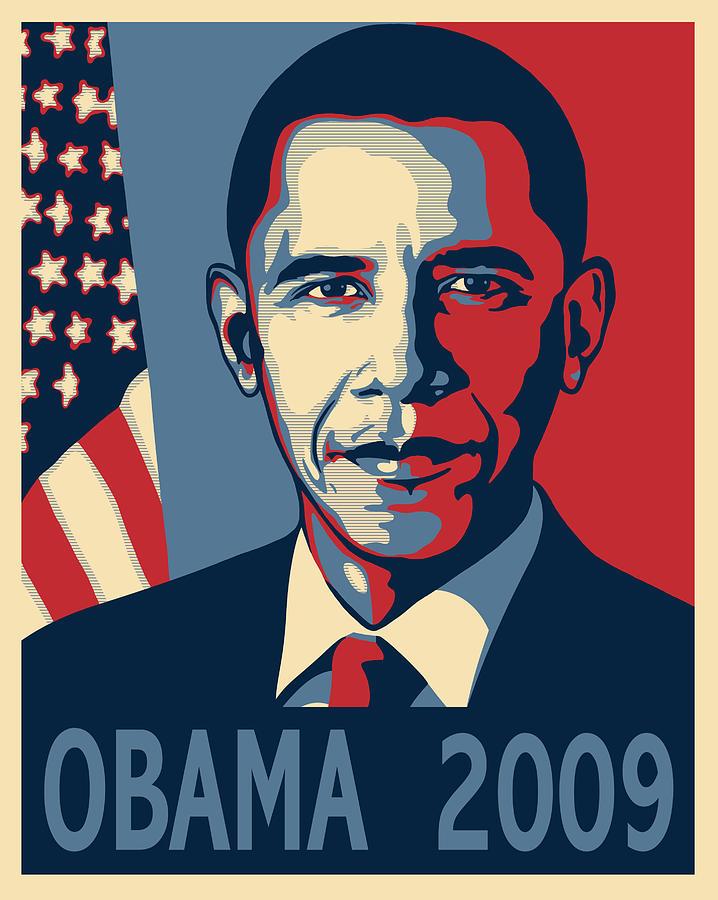 Barack Obama Presidential Poster Digital Art by Sue Brehant