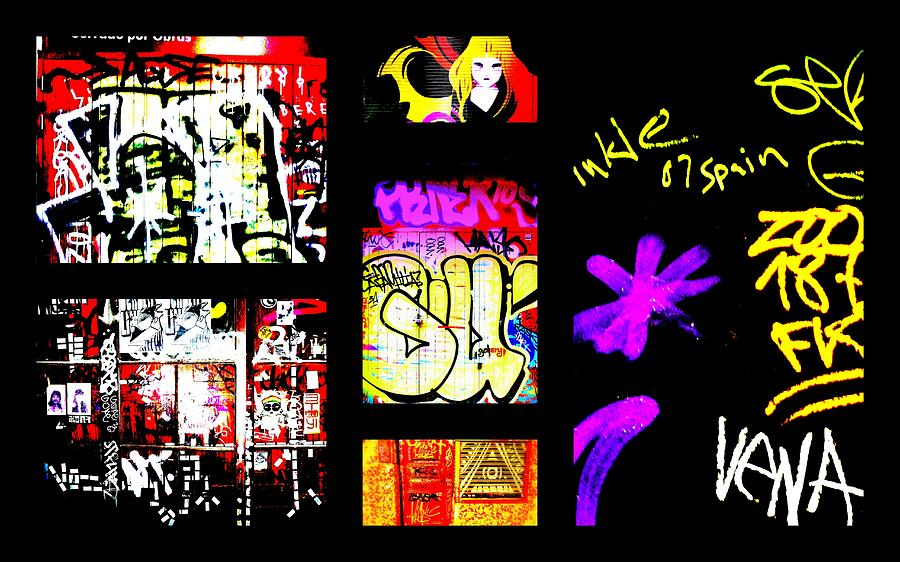 Graffiti Photograph - Barcelona Graffiti  by Funkpix Photo Hunter