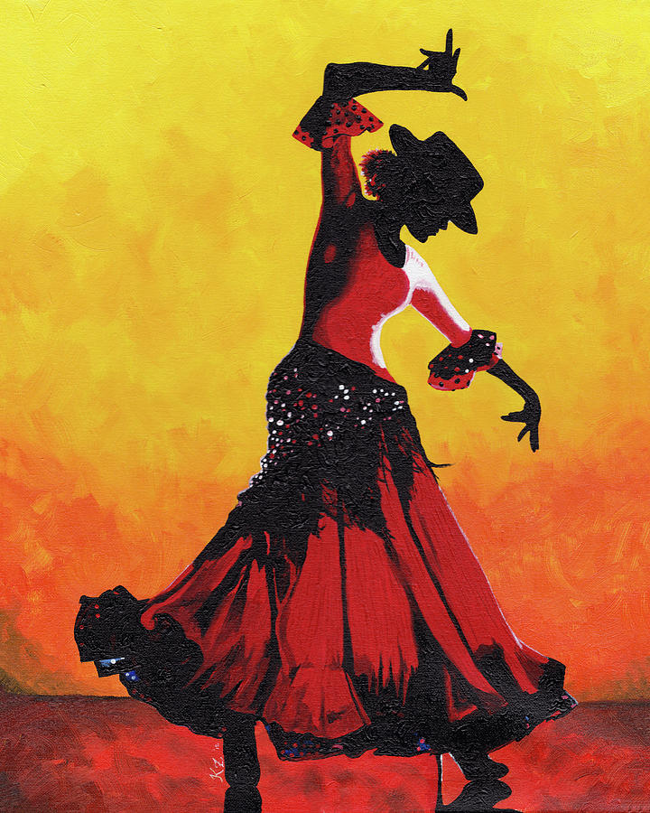 Flamenco Painting - Barcelona by Katia Zhukova