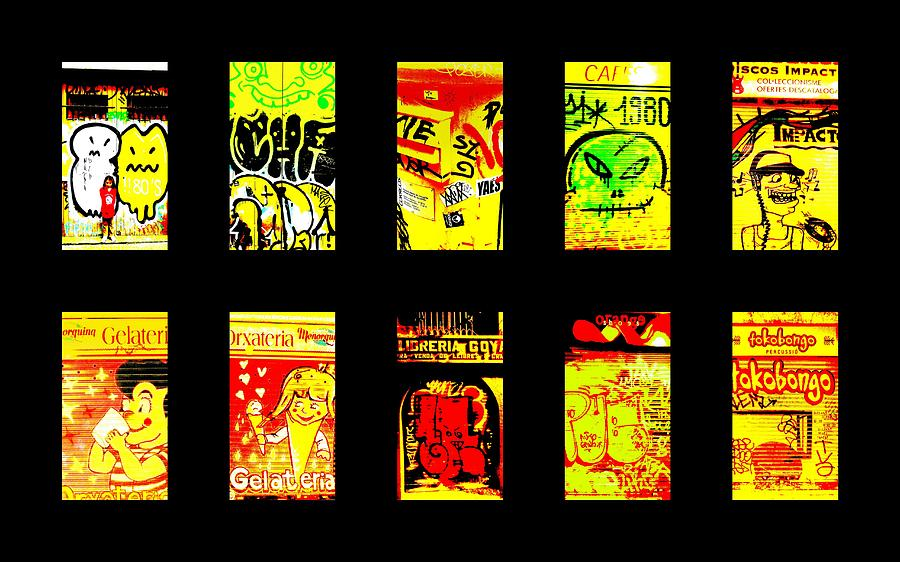Graffiti Photograph - Barcelona Store Fronts by Funkpix Photo Hunter