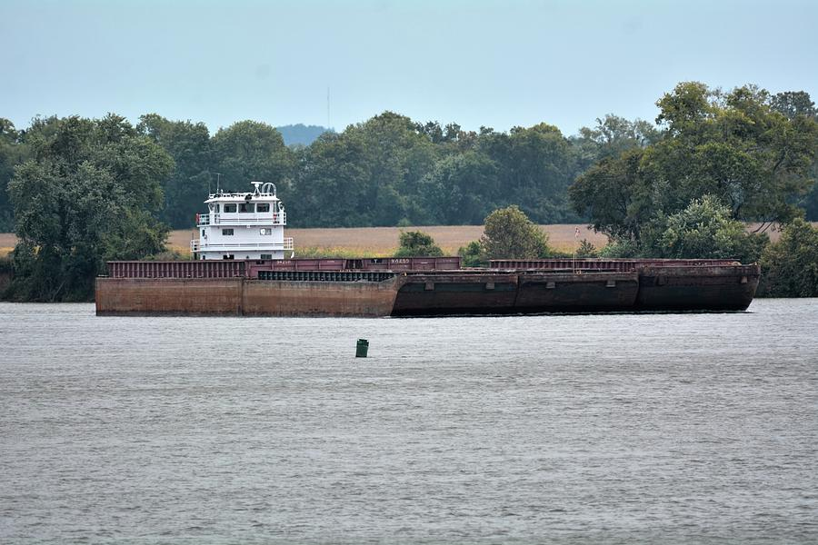 Barge On Tennessee River At Shiloh National Military Park Photograph