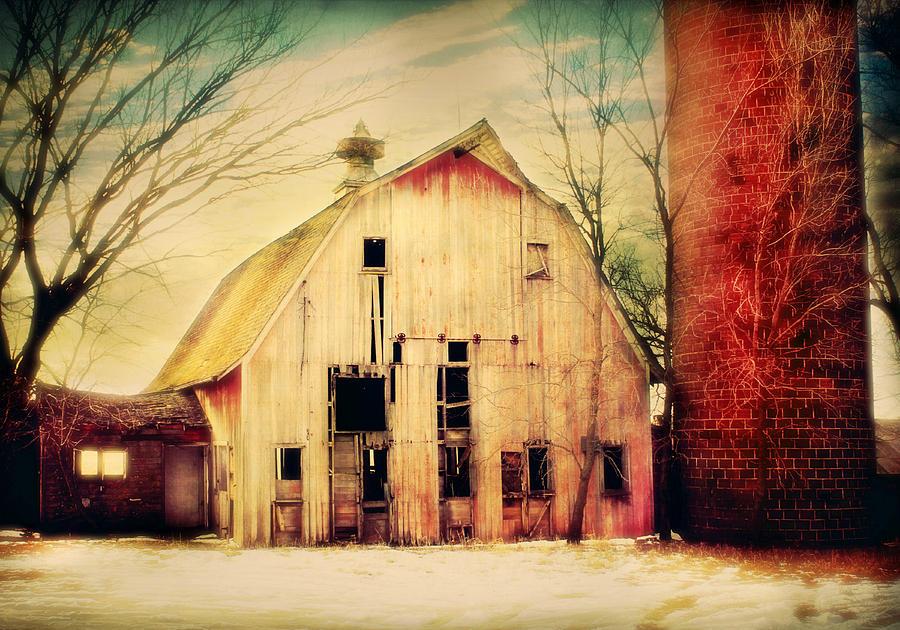 Farm Photograph - Barn And Silo by Julie Hamilton