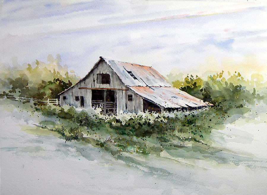 Farm Painting - Barn by Sam Sidders