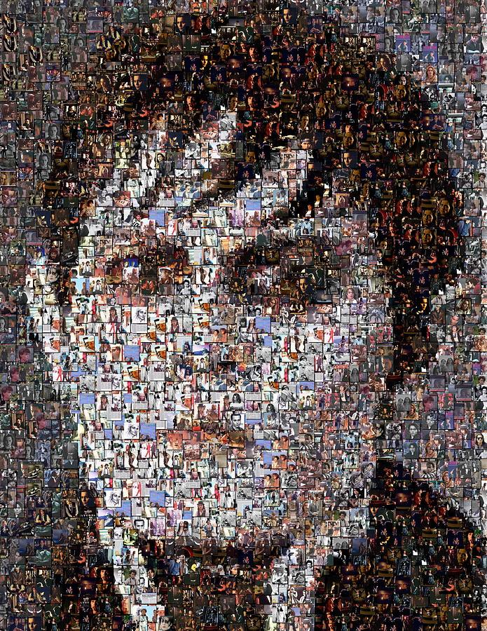 Barnabas Collins Mixed Media - Barnabas Collins Johnny Depp Mosaic by Paul Van Scott