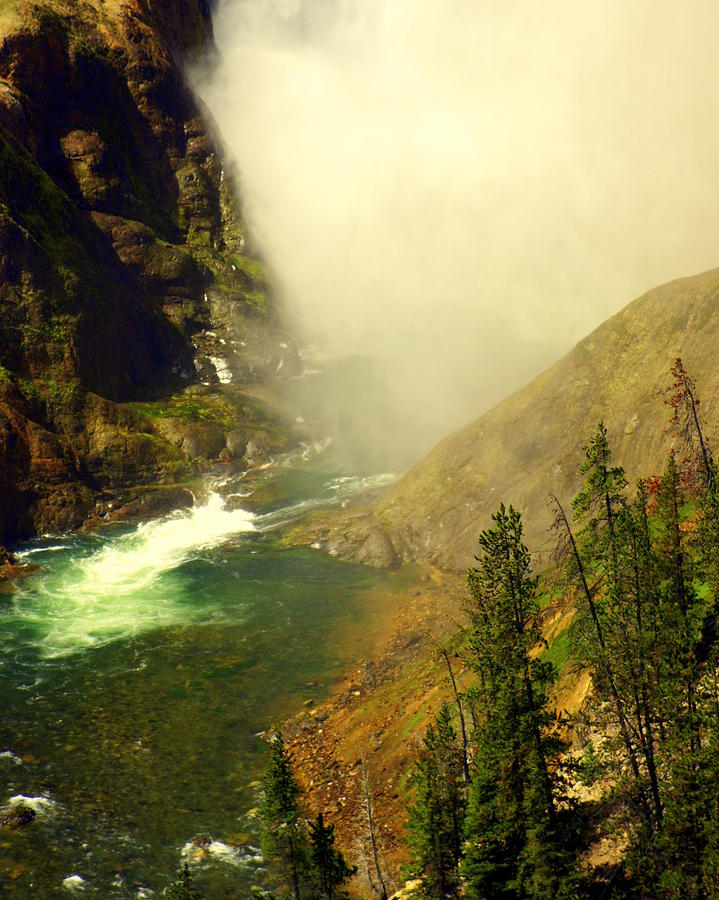 Yellowstone River Photograph - Base Of The Falls 2 by Marty Koch