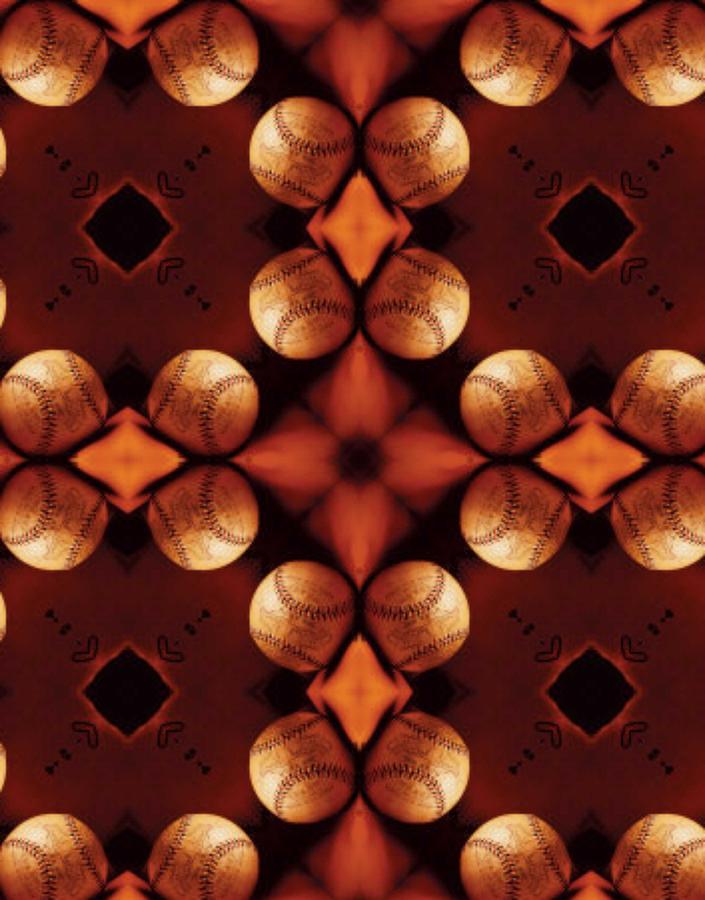 Acrylic Mixed Media - Baseball Cross by Maria Watt