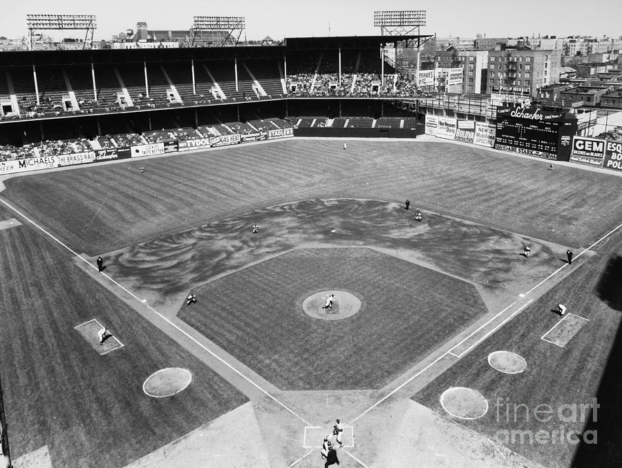1953 Photograph - Baseball Game, C1953 by Granger