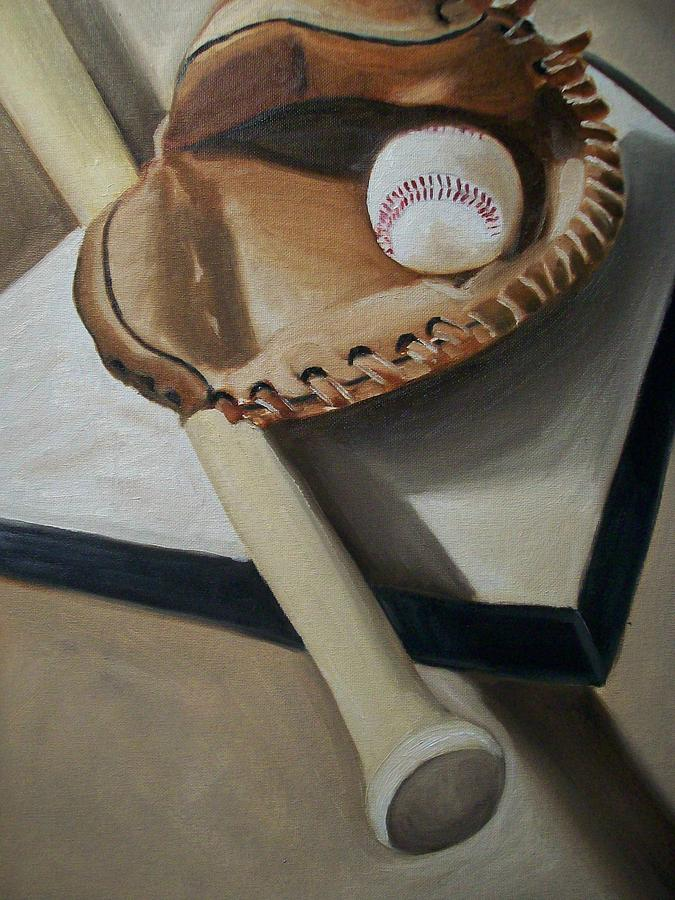 Baseball Painting - Baseball by Mikayla Ziegler