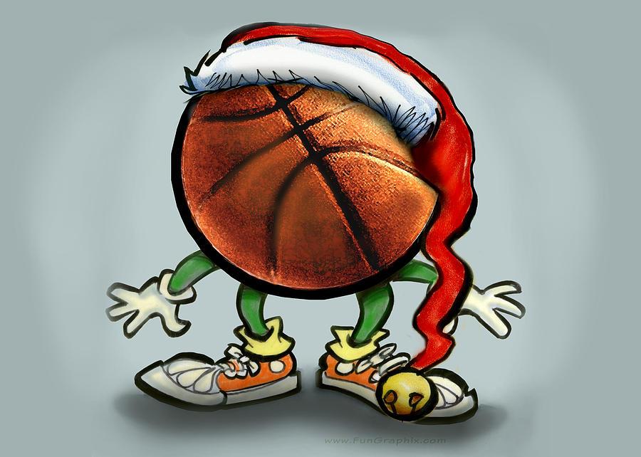 Basketball Christmas Greeting Card