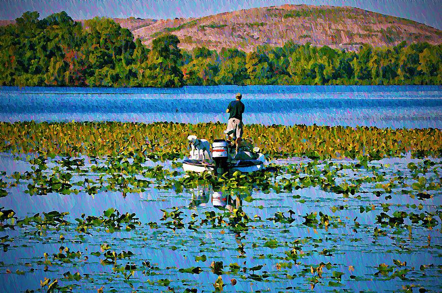 Bass Fishing Photograph