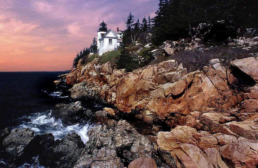 Lighthouses Photograph - Bass Harbor Head Lighthouse In Maine by Skip Willits