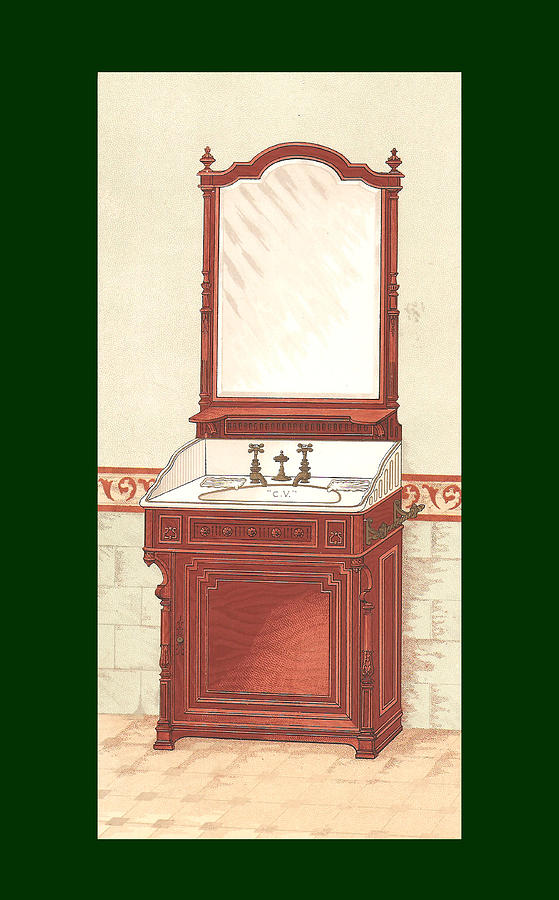 Bathroom Picture Wash Stand One Mixed Media by Eric Kempson