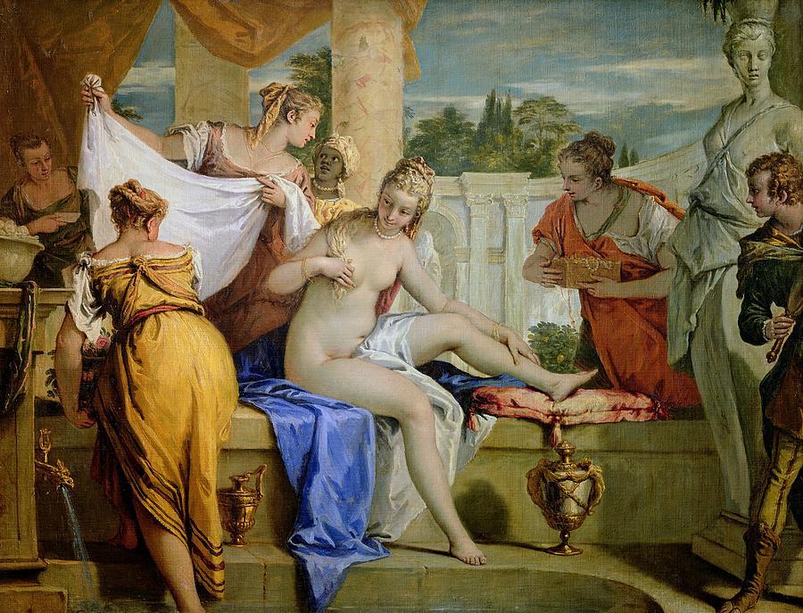Bathsheba Painting - Bathsheba Bathing by Sebastiano Ricci
