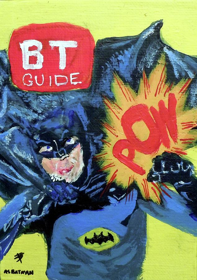 3 X 5 Inch Acrylic Painting Painting - Batman Day 15 by B T
