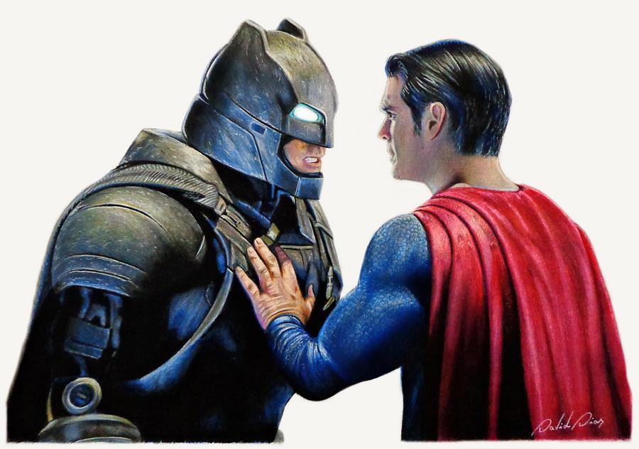 Batman Vs Superman Drawing By David Dias