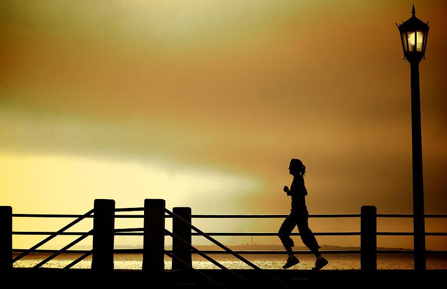 Jogging Photograph - Battery Days by Patrick Biestman