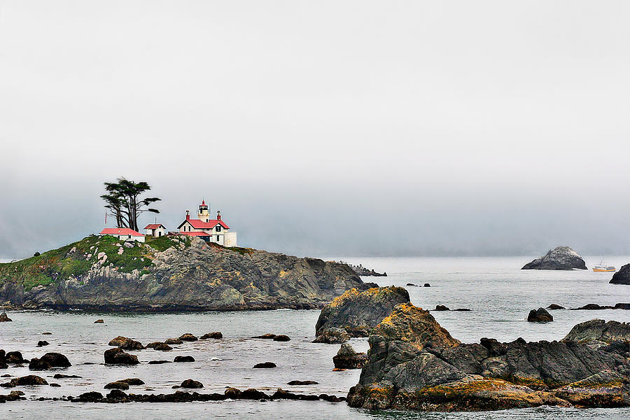 Battery Point Lighthouse Photograph - Battery Point Lighthouse California by Christine Till