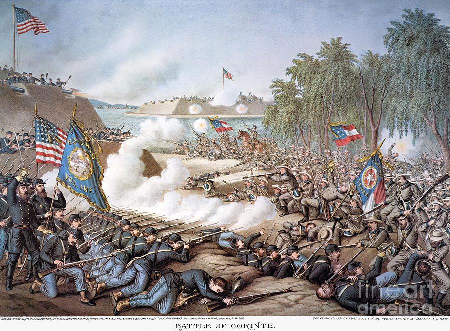 Battle Of Corinth, 1862 Photograph