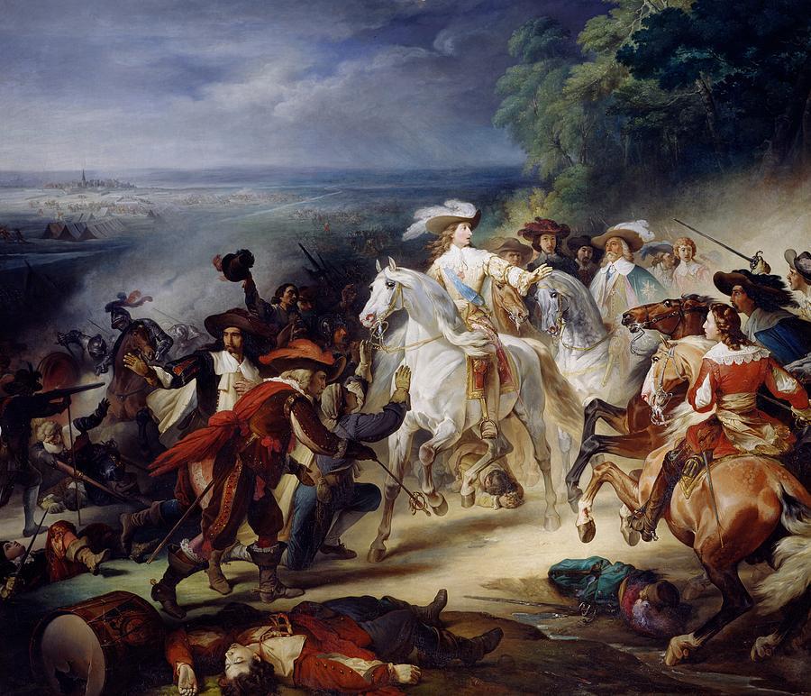 Battle Painting - Battle Of Rocroy by Francois Joseph Heim