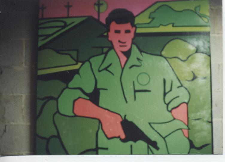 Military; Vietnam War; Abstracted Portrait. Painting - Battle Veteran by James Larson