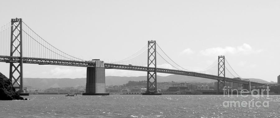 San Francisco Photograph - Bay Bridge In Black And White by Carol Groenen