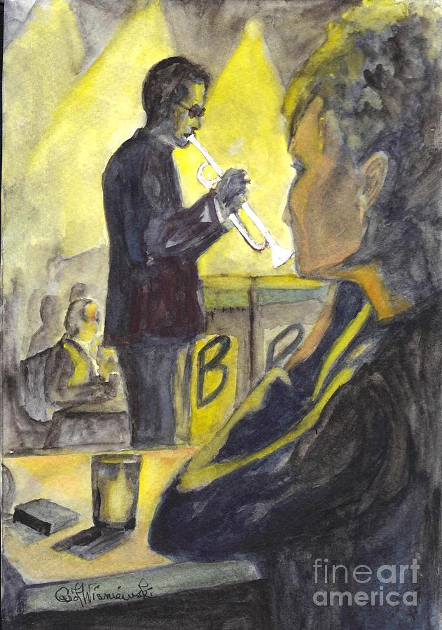 Jazz Painting - Bb Jazz by Carol Wisniewski