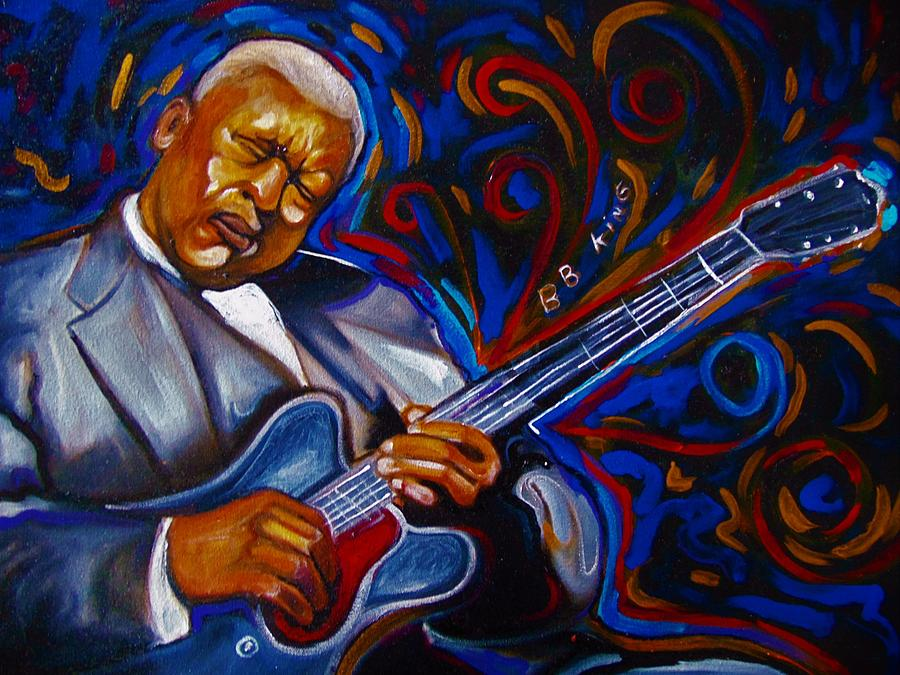 Music Painting - b.b KING by Emery Franklin