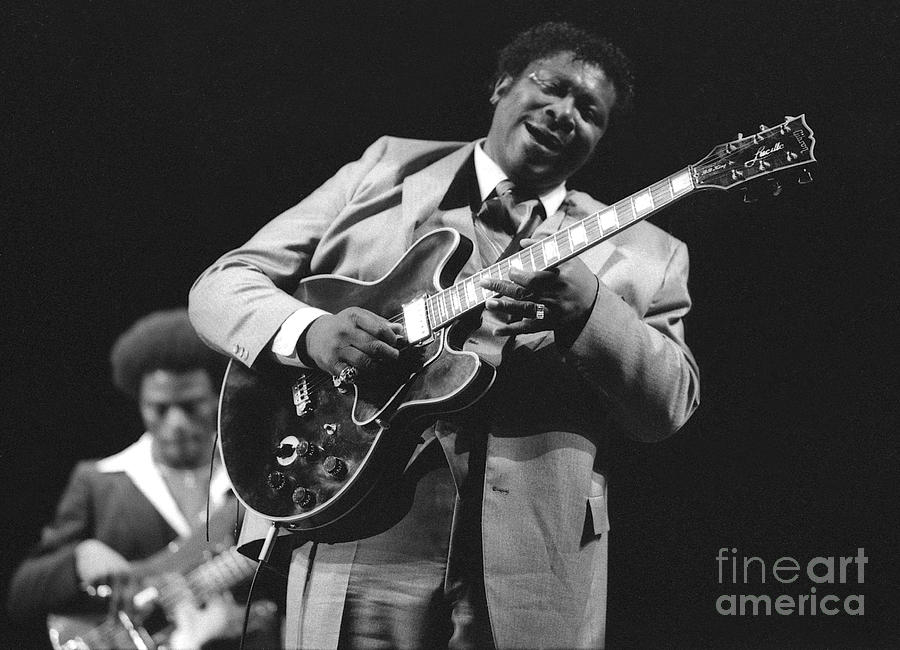 Photo Photograph - Bb King In Love With Lucille by Philippe Taka