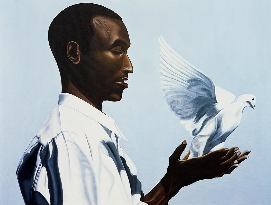 Be Free Three Painting - Be Free Three by Kaaria Mucherera