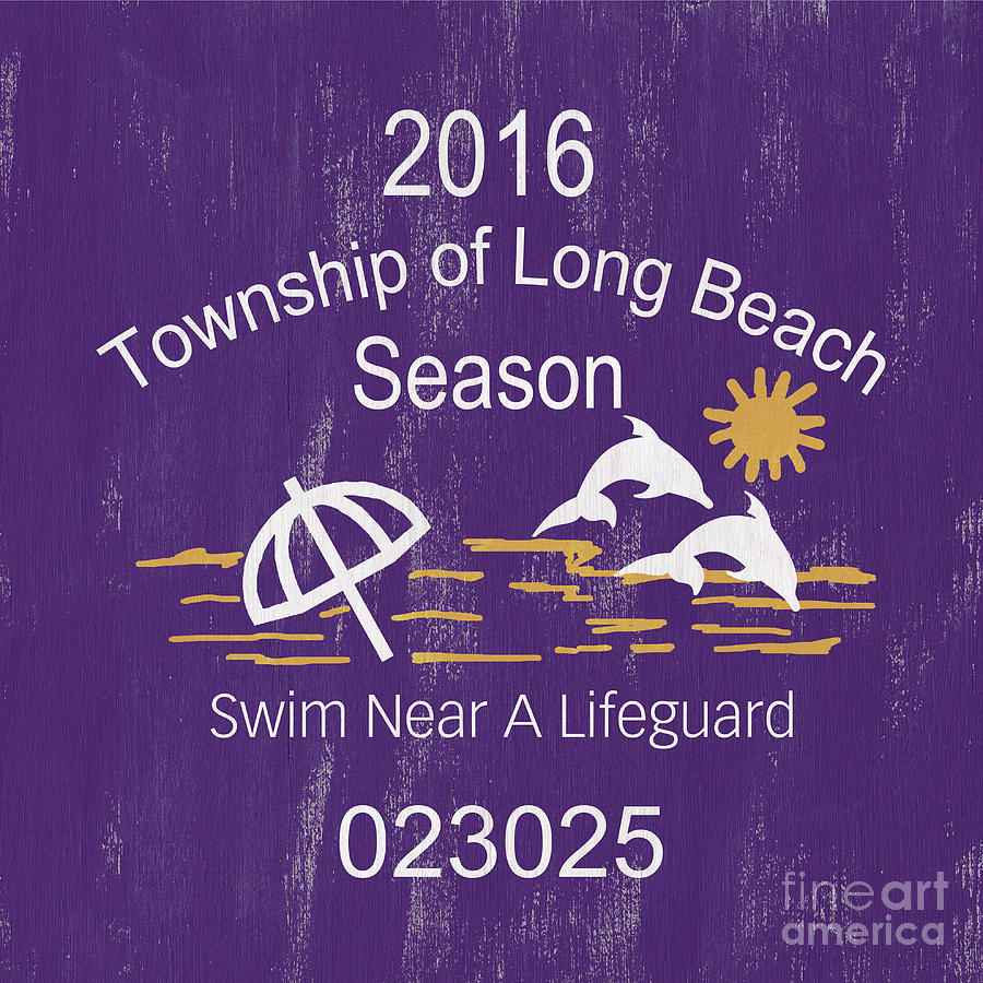 Beach Badge Long Beach Painting