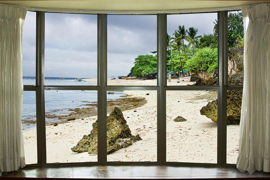 Beach Bay Window View Photograph