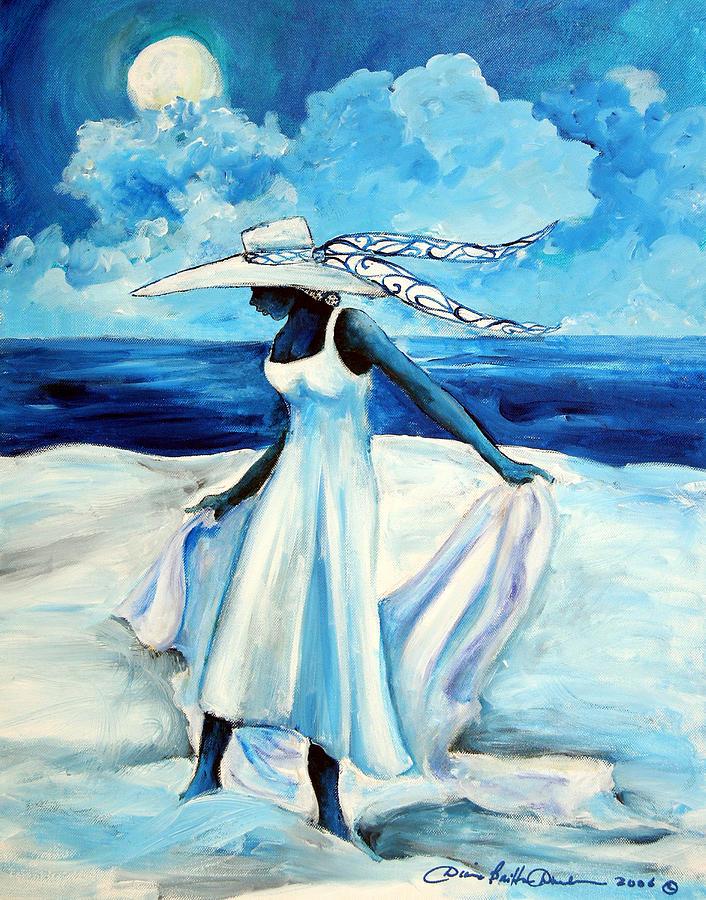 Gullah Painting - Beach Blues by Diane Britton Dunham