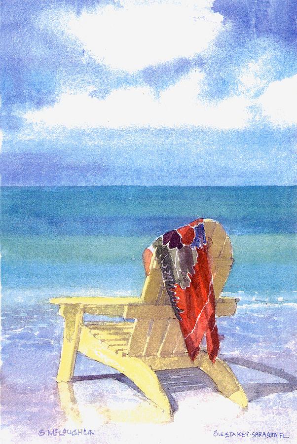 Beach Painting - Beach Chair by Shawn McLoughlin