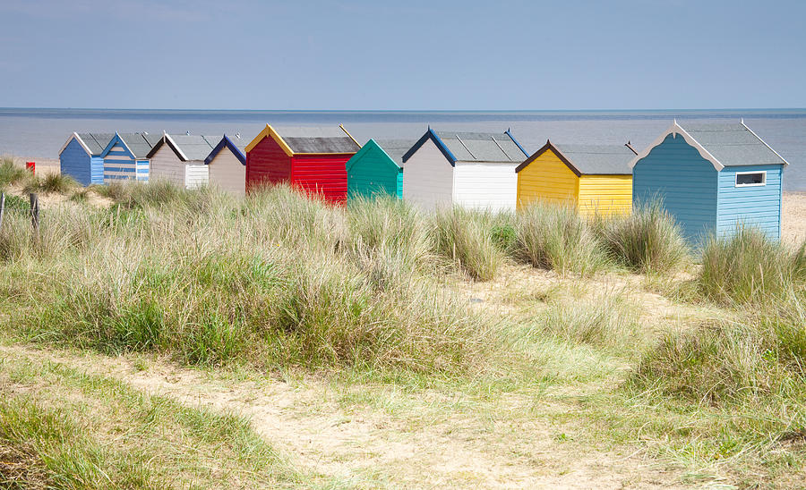 Beach Photograph - Beach Huts by Ian Merton