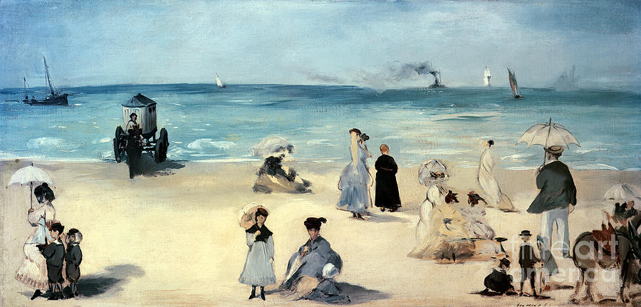 Beach Painting - Beach Scene by Edouard Manet