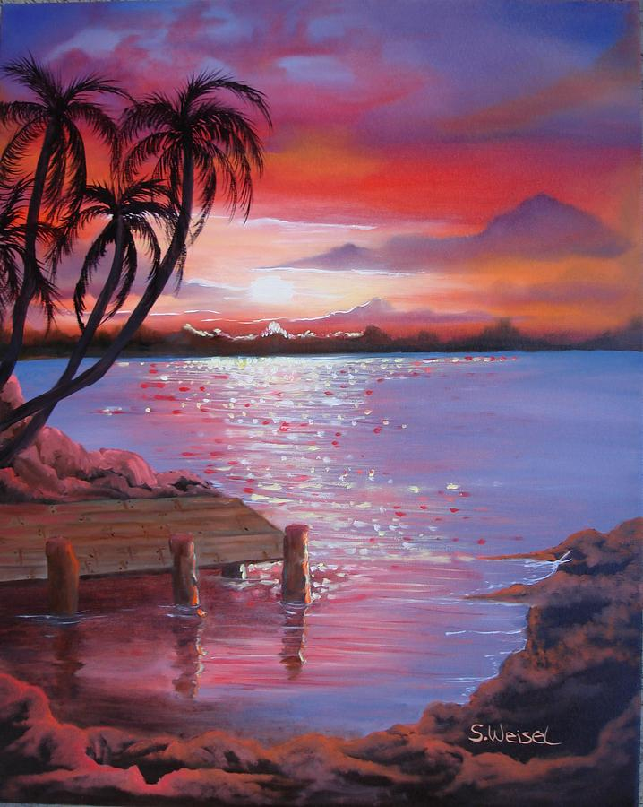 The Gallery For Easy Beach Sunset Paintings Of Sunsets On Beaches