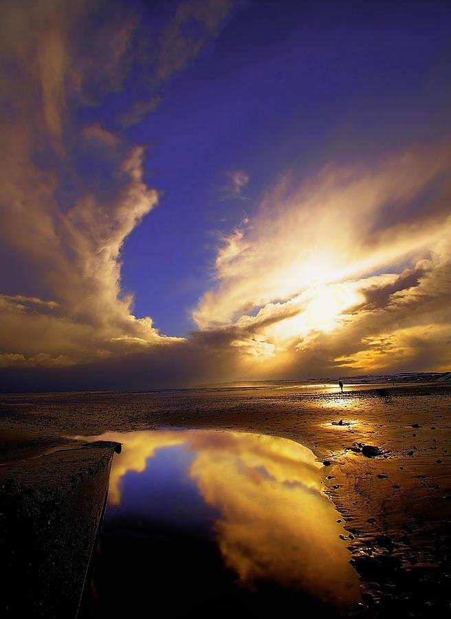 Beach Photograph - Beach Sunset by Svetlana Sewell