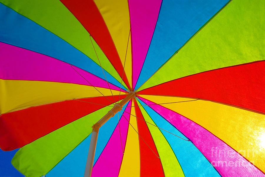 Beach Photograph - Beach Umbrella by David Lee Thompson