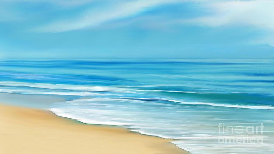 Beach Waves Mixed Media