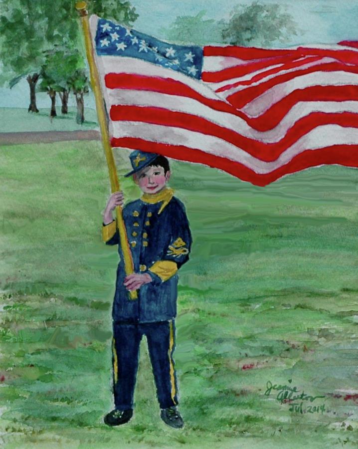 American Art Painting - Beaming With American Pride by Jeannie Allerton